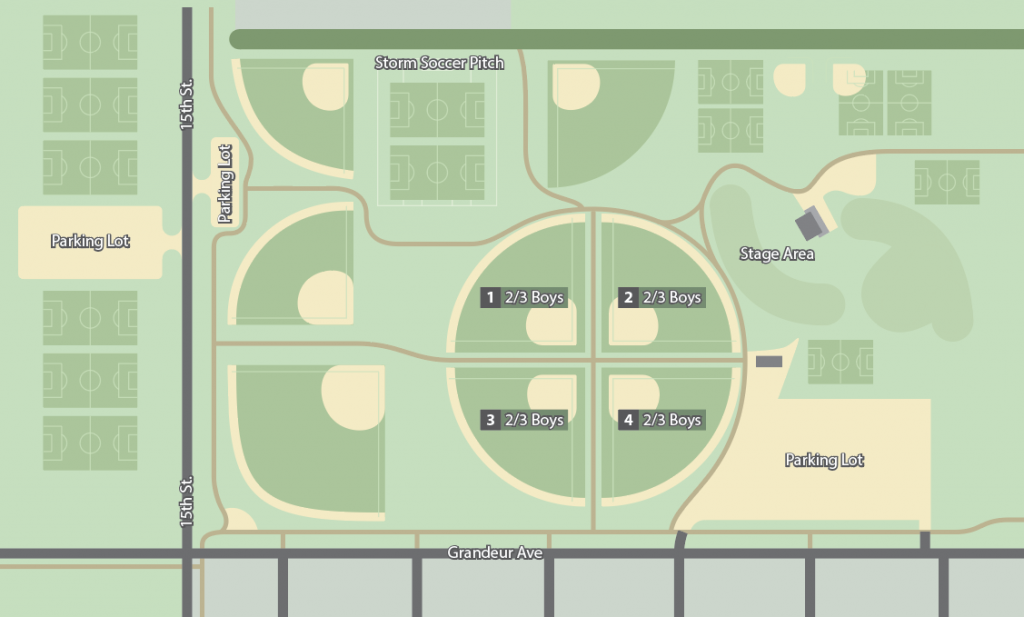 Boys grade 2 and 3 field map