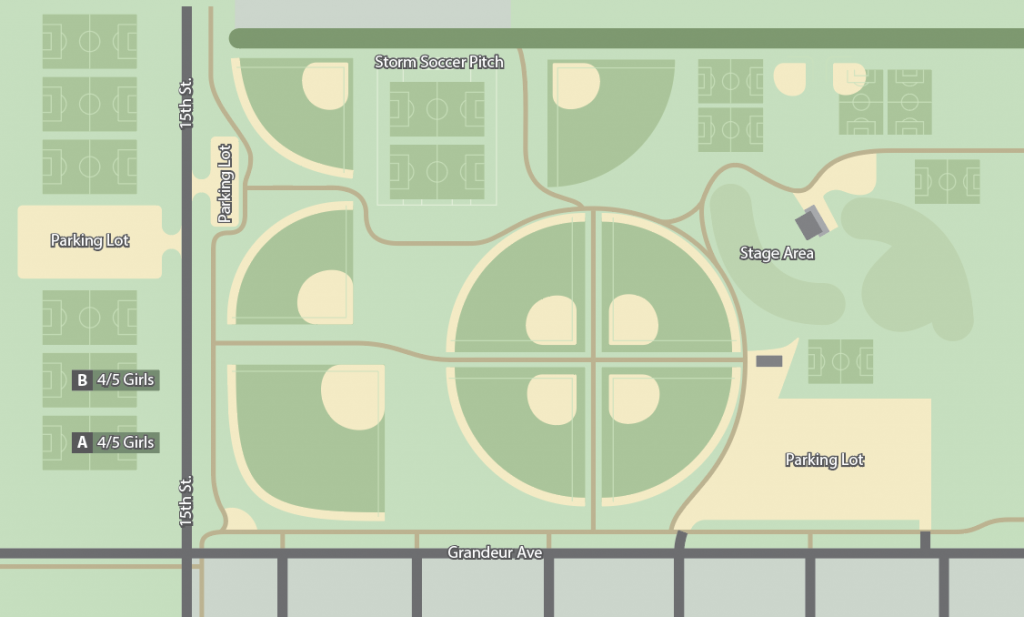 Girls grade 4 and 5 field map